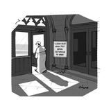 The Pope visits New York City - Cartoon