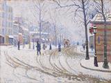 Snow  Boulevard de Clichy  Paris 1886
