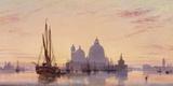 Sunset behind Santa Maria della Salute  Venice  1851