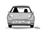 Gun's Don't Kill People; Automatic weapons do - Cartoon