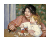 Child with Toys - Gabrielle and the Artist's Son  Jean