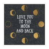 To the Moon Black Reproduction d'art par Moira Hershey