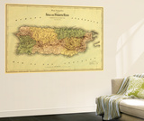 Puerto Rico - Panoramic Map