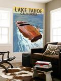 Lake Tahoe  California - Wooden Boat