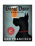 Great Dane Brewing Co San Francisco Reproduction d'art par Ryan Fowler