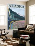 Alaska Railroad and Fireweed  Alaska