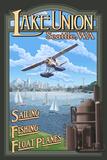 Lake Union Float Plane  Seattle  Washington