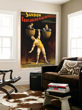 The Sandow Trocadero Vaudevilles Weightlifting Poster