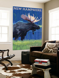 New Hampshire - Moose in the Moonlight
