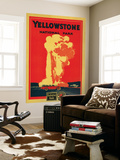 Yellowstone  Old Faithful Advertising Poster - Yellowstone National Park