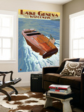 Lake Geneva  Wisconsin - Chris Craft Wooden Boat