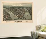 Pittsburgh  Pennsylvania - Panoramic Map
