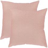 Box Stitch Pillow Pair - Pink *