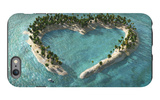 Aerial View Of Heart-Shaped Tropical Island