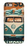 Big Sur  California - VW Van Blockprint
