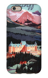 Banff  Alberta  Canada - Overview of the Banff Springs Hotel Poster