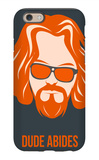 Dude Abides Orange Poster