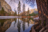 Reflections Inside The Valley Late Winter  Yosemite National Park