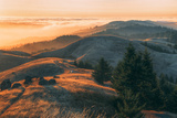 Summer Sunset at Ridgecrest Mount Tamalpais  Northern California