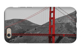 Golden Gate Bridge with Red Pop Border