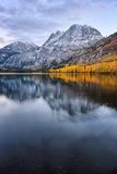Silver Lake in Reflection in Autumn  Eastern Sierras  California