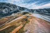 Mammoth Hot Springs Landscape Abstract  Yellowstone National Park