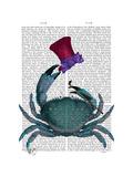 The Dandy Crab Reproduction d'art par Fab Funky