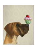 Great Dane and Cupcake