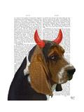 Basset Hound and Devil Horns
