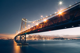 Bay Bridge Night Cityscape  San Francisco  California