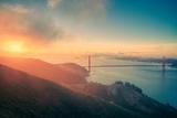 Mid-summer Morning Landscape at Golden Gate Bridge  San Francisco  California