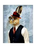 Horatio Hare in Waistcoat Reproduction d'art par Fab Funky