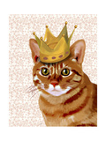 Ginger Cat with Crown Portrait