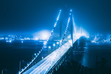 Blue City Bridge  Bay Bridge  San Francisco  California