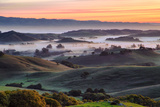 Beautiful Morning Hills and Fog Petaluma Sonoma California