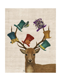 Hat Collector Deer Reproduction d'art par Fab Funky