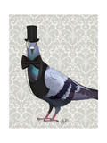 Pigeon in Waistcoat and Top Hat