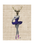 Ballet Deer in Blue
