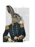 Lieutenant Hare Reproduction d'art par Fab Funky