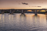 The Key Bridge at Sunset in Georgetown