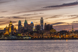 Skyline of Philadelphia Seen from Camden  New Jersey