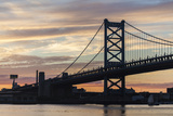 Philadelphia's Benjamin Franklin Bridge Spanning the Delaware River