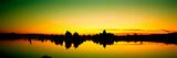 Silhouette of Tufa Formations in Mono Lake  Mono County  California  Usa