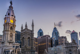 Philadelphia 's City Hall with the Skyline of the Central Business District  2014