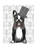 Monsieur Bulldog Reproduction d'art par Fab Funky