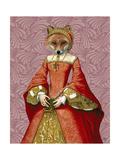 Fox Queen Reproduction d'art par Fab Funky