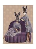 Rabbits in Purple