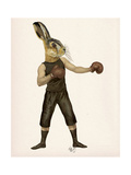 Boxing Hare Reproduction d'art par Fab Funky