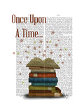 Once Upon a Time Books Reproduction d'art par Fab Funky
