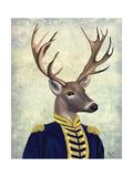 Captain Deer Reproduction d'art par Fab Funky